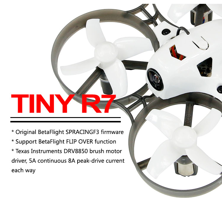 LDARC Tiny R7 75mm PNP Combo RTF/Basic/Adavnce 2.4G RC Indoor Geborsteld Mini Racing Drone camera 25mW 16CH FPV Dron-in RC Helikopters van Speelgoed & Hobbies op  Groep 2