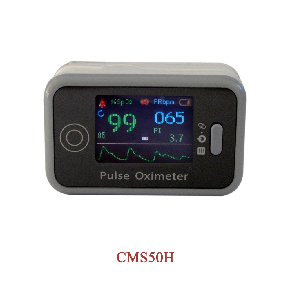 BEST ITEM CMS50H CE Finger Tip Pulse Oximeter OLED Display Blood Oxygen Saturation SpO2 Digital PR PI Pulse Heart Rate Monitor gpyoja pulse oximeter finger oximetro gravity control pr spo2 pi saturometro pulsoximeter oled screen 4 colors