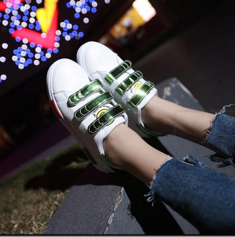 2018 новые летние белые туфли женский хан издание студентов модная обувь для отдыха с обувь кроссовки