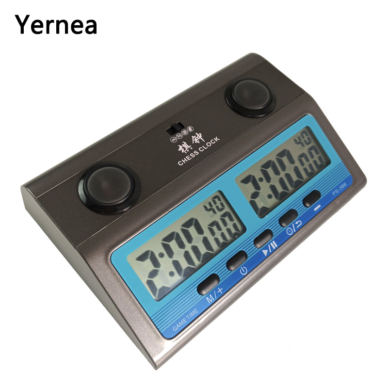 Yernea New Chess Clock Board Game Set Timer Chinese Count Down Multiple Games Electronic Calculagraph Go