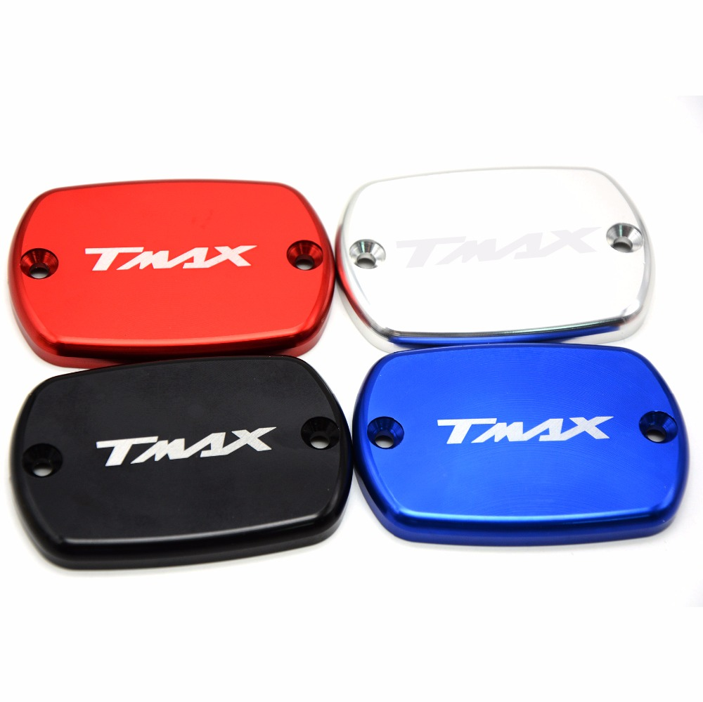 Motorcycle CNC Front Brake Fluid Reservoir Cap Cover For Yamaha T-max 530 500 Tmax530 XP530 2012-2016 Tmax500 XP500 2008 - 2011 1 pcs motorcycle rear brake rotor disc braking disk for yamaha xp 500 t max 2001 2011 xp500 tmax abs 2008 2011