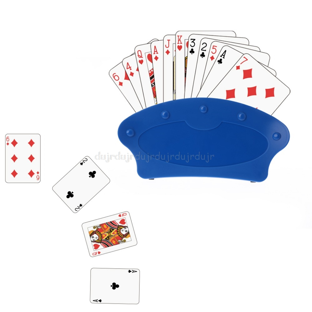 Playing card Holders Lazy poker base game organizes hands for easy play Christmas birthday party poker seat Playing card stand image