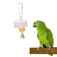 2 шт., медальон, колокольчик, молярный камень, кулон, попугай, рот, шлифовальный камень, молярный камень, подвесная струна, жевательная игрушка, птица