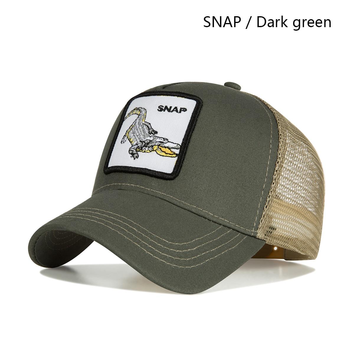 dark green snap