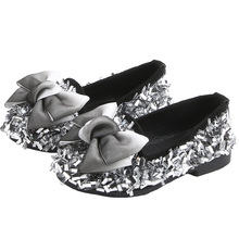 COZULMA Baby Girls Shoes Children Rhinestone for Princess Bow Tie Soft Dance Toddler Party Dress