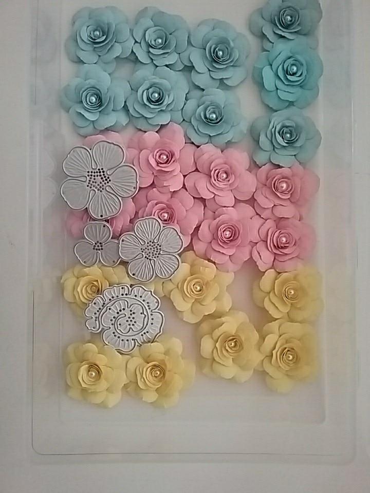 8Pcs Flower Design Metal Cutting Die For DIY Scrapbooking Album Paper Cards RDR