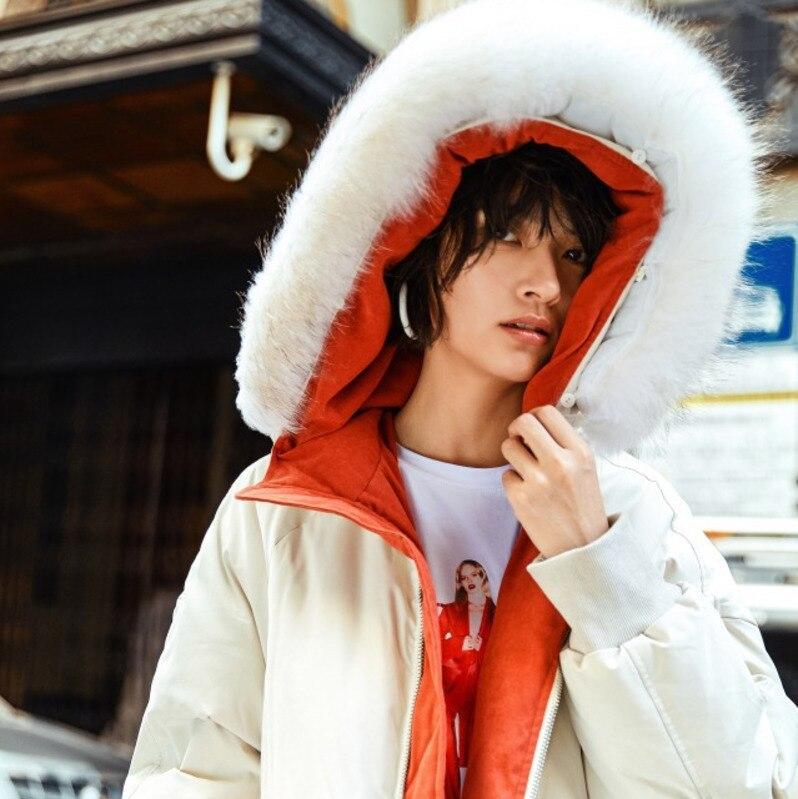 Vêtements Nouveau Taille La Blanc Hiver Cheveux Plus Coton Capuche L'ukraine À Veste Rembourré Col 2018 Parka Femmes Femme A610 Manteau Grand 4xHf6d6