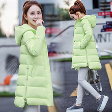 In the long winter lady slim Korean fashion padded jacket thick coat