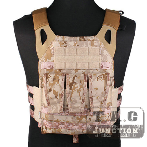 Emerson Tactical Navy Jumpable Plate Carrier NJPC EmersonGear Lightweight Combat Vest with 5.56 .223 Triple Magazine Mag Pouches