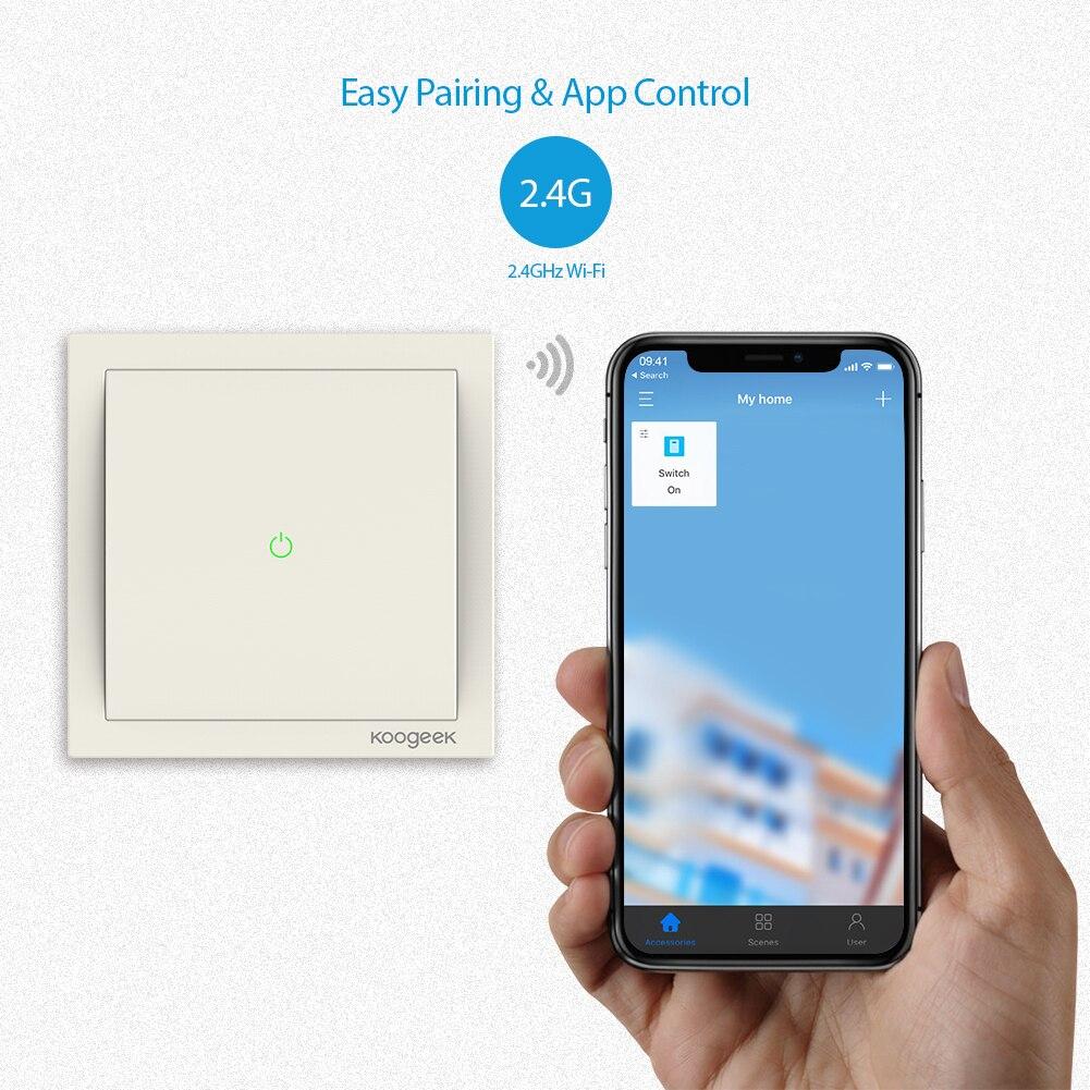 Koogeek WiFi Enabled Home Smart Light Switch 220~240V for Apple ...