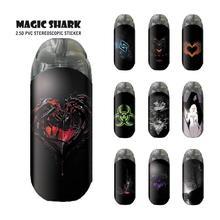 Magic Shark Virus Hart Warcraft Case Cover Sticker Voor Nul Film Voor Nul Case Cover E Sigaret Accessoires