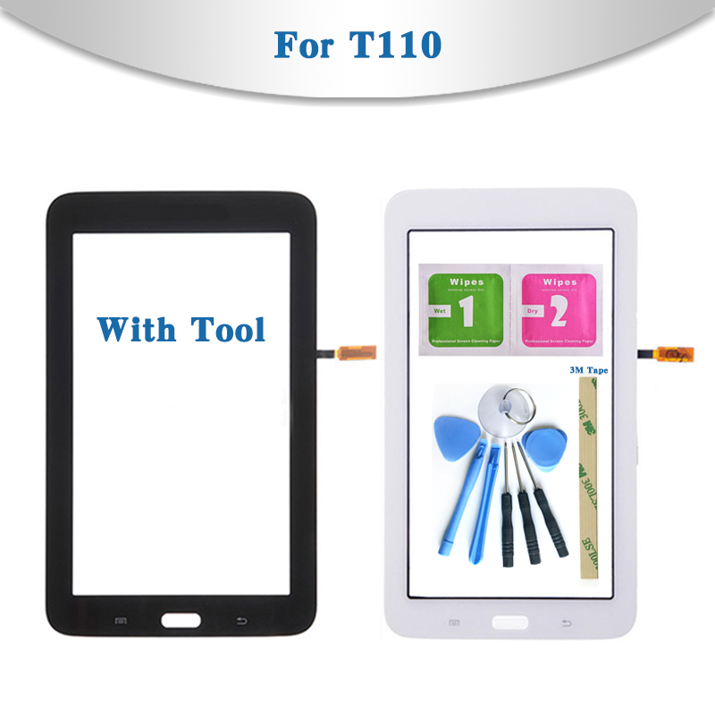 For Samsung Galaxy Tab 3 Lite 7.0 SM-T110 SM-T111 T110 T111 Tablet Touch Screen Digitizer Sensor Front Outer Glass Lens Panel