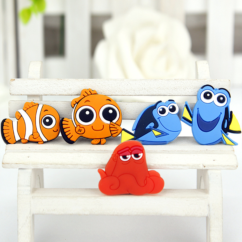 Creative Cartoon Kawaii Sea Animal Octopus Clown Fish Dory Marlin Nemo Fridge Souvenir Magnet Sticker Decor Business Gift CR in Fridge Magnets from Home Garden