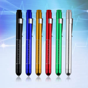 Torch Light-Flashlight Inspection-Lamp Surgical-Penlight Medical 1pc with Scale First-Aid