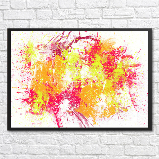 Colorful Modern Wall art poster Corporate Culture abstract Coated ...