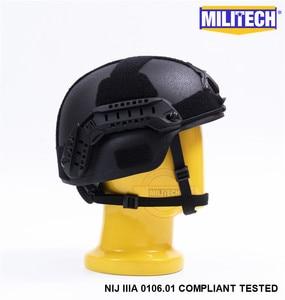 Image 4 - Militech Black Bk Mich Nij Level Iiia 3A Tactische Twaron Kogelvrije Helm Ach Arc Occ Dial Liner Aramid Ballistic Helm seal
