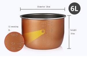Image 3 - Pentola a pressione elettrica fodera multicooker ciotola 4L/5L/6L litro non stick pan doppio spruzzo ispessimento