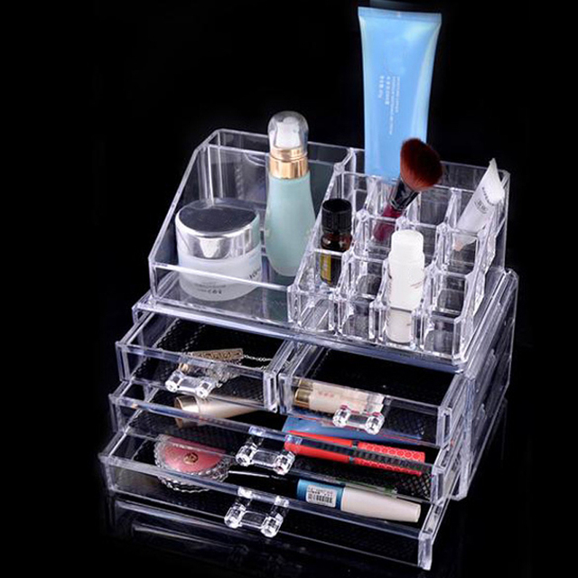 Cosmetic Organizer Drawers Jewellery Box Holder Display Stand Clear Acrylic Cosmetic Organizer Makeup Storage Box Case