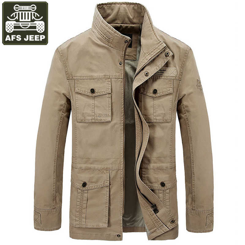 242e2fffc3d Detail Feedback Questions about AFS JEEP 2017 Brand Jacket Men Thick Warm  Fleece Winter Jacket Men Army Military Jackets Coats With Many Pockets  Chaqueta ...