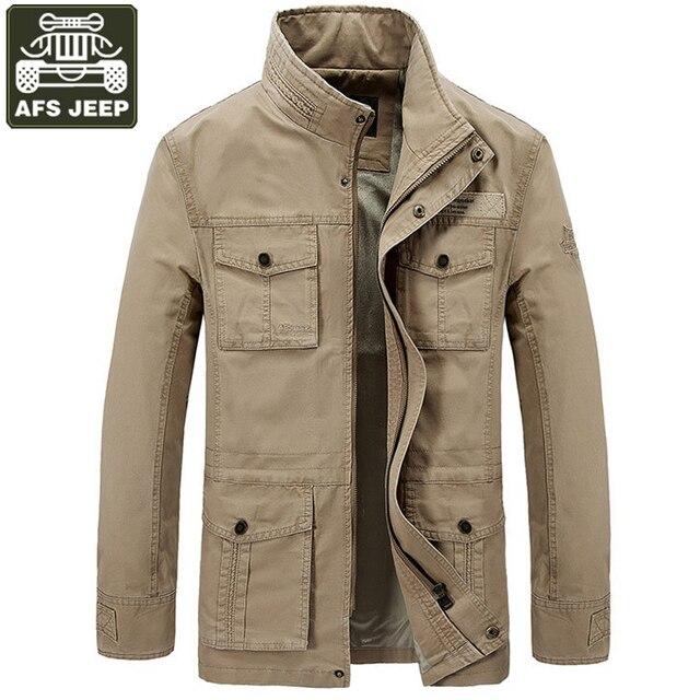 AFS JEEP 2017 Marque Veste Hommes Chaud Épais Polaire D hiver veste Hommes  Armée Militaire 84ca757b4ddf