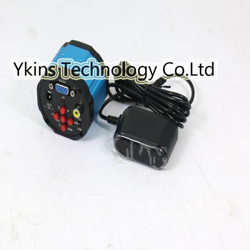 Free shipping 2 in1 Digital Industry Industrial Microscope Camera Magnifier VGA AV TV Video Output for PCB Lab + AC Power Supply подвесная люстра vitaluce v3716 5