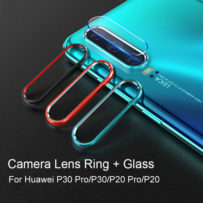 For Huawei P30 Pro P30 Metal Rear Lens Protection Ring+Tempered Glass Camera Lens Screen Protector For Huawei P20 Pro Case P20