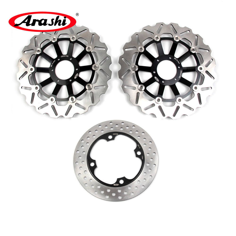 Arashi 1 Set Front Rear Brake Disks Rotors For HONDA CBF HORNET 600 1998 1999 CNC Floating Brake Disc CB F HORNET 600 1998 99
