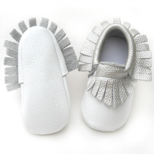 silver fringe baby shoes cow leather baby moccasins shoes kid shoes colorful shoes girls and boys