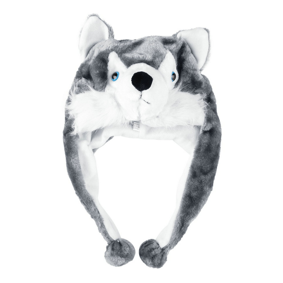 07776c028ed66 Cartoon Animal Style Hood Wolf Hat Hoods Beanies Cute Fluffy Kids Caps Soft  Warm Scarf Earmuff