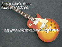 Classical Binding Guitar Neck Cherry Sunburst Finish LP Standard Guitar China Lefty Custom Available In Stock