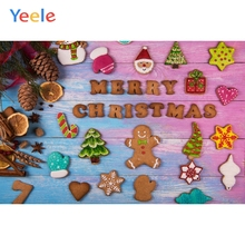 Yeele Christmas Photocall Biscuits Ball Decor Party Photography Backdrops Personalized Photographic Backgrounds For Photo Studio
