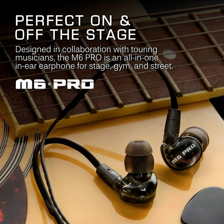 Black MEE Audio M6 PRO Noise-isolating HiFi In-Ear Headset Monitors Music Headphones Earphones With Mic For Iphone Good AS SE535