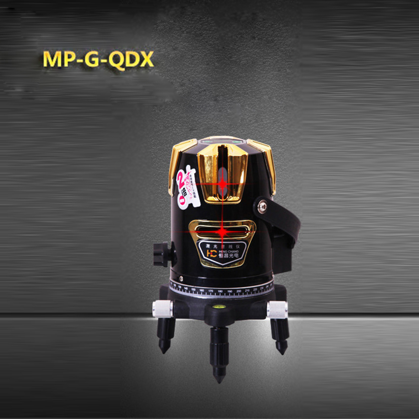 1pc MP-G-QDX 360degree Self- leveling Cross Laser Level Red 2 Line 1 Point Power supply voltage 220V