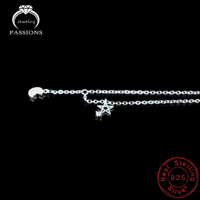 Новое поступление, 925 пробы, женский серебряный браслет на ногу, браслеты с популярным символом созвездия, кулон для женщин и девушек, ювелирные изделия