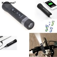 Bluetooth динамик USB Перезаряжаемый велосипедный яркий 2200 мАч светодиодный светильник-вспышка музыкальный плеер велосипедный светильник с внешним аккумулятором