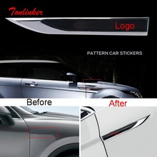 Tonlinker Car bady side Exterior Cover stickers For Volkswagen serie Styling 2 PCS ABS Chrome sticker