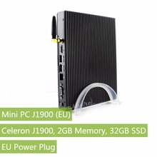 Mini PC,Features Intel Celeron J1900,2GB Memory,32GB SSD,with EU Power Plug,CPU Frequency: 2GHz -2.41GHz,Graphics/WiFi/Bluetooth