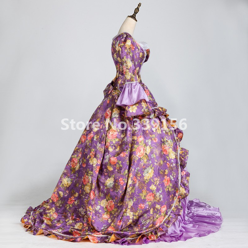 Blue Purple Pink and Black Dresses for Masquerades