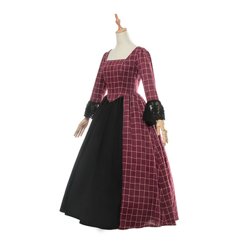 ROLECOS New Women Long Sleeve Victoria Dress Cotton Medieval Gothic Princess Polyester Costumes Lolita Dresses for Women 2