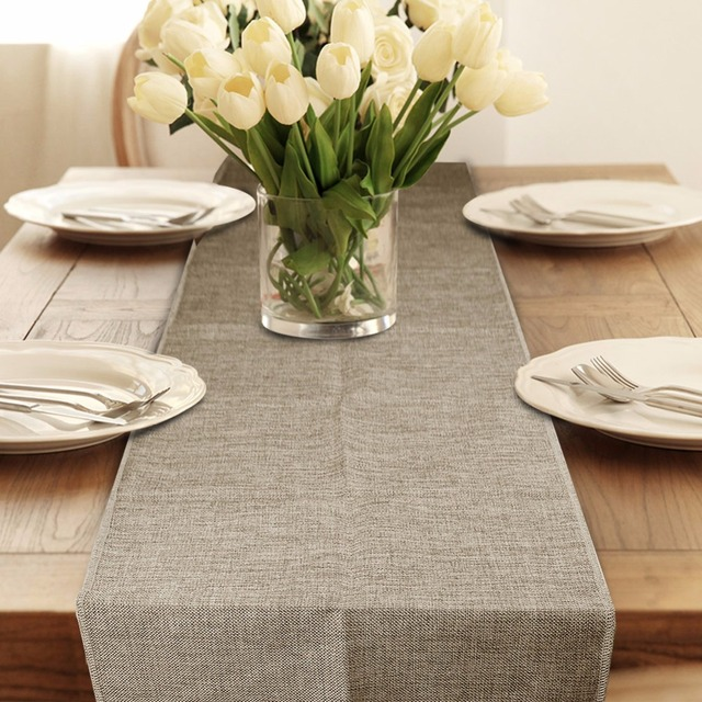 2pcs Burlap Table Runner Wedding Decoration Modern Runners For Party Vintage Home Decor Supplies Textile
