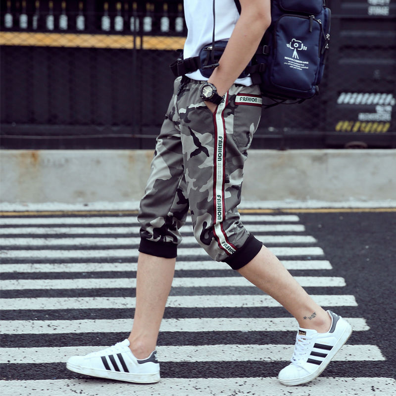 2019 New Mens Casual Camouflage Cargo Pants Summer Ankle Banded Pants  Men Fashion Streetwear Jogger Pencil Pants