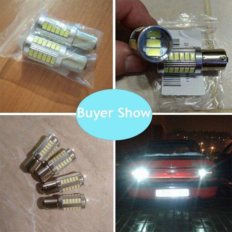 2 шт. 1156 7506 BA15S P21W 5630 5730 светодиодный автомобиль хвост лампы тормоз светильник s 12V автоматический обратный лампы дневного света сигнала светильник Z4