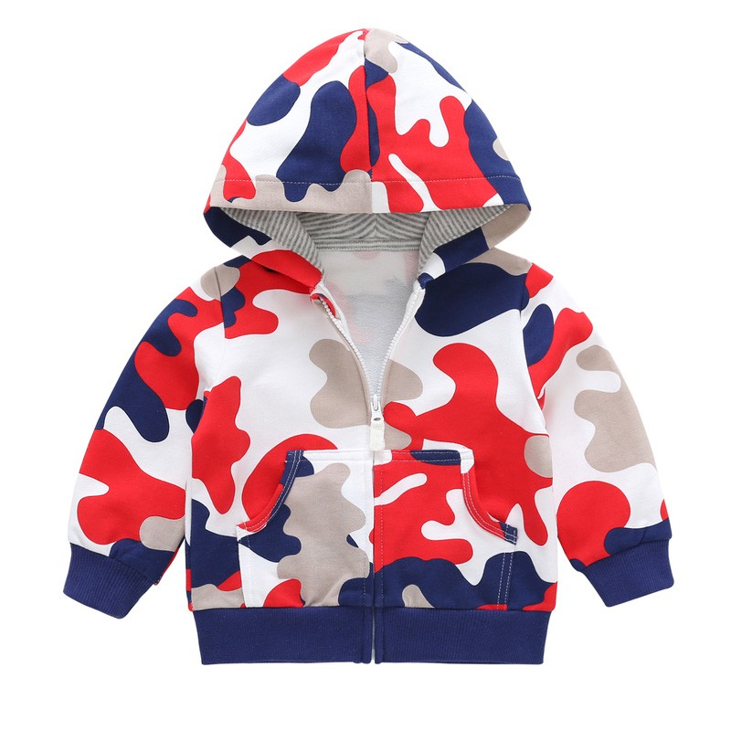 fec737ee5 Newborn Baby Coat Boy Spring Camouflage Trench Coat Jacket Infant ...