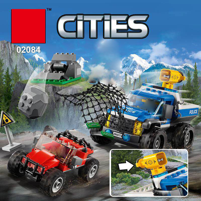 Lepin 02084 New City Series The Dirt Road Pursuit Set LegoINGly 60172 Building Blocks Bricks Funny Toys Model Gifts For Children az 7788 desktop co2 temperature humidity monitor data logger air quality detector