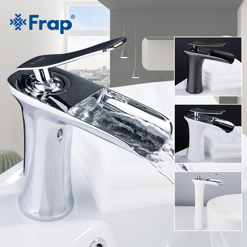 Frap new Basin Faucets Waterfall Bathroom Faucet Single handle Basin Mixer Tap Bath Antique Faucet Brass