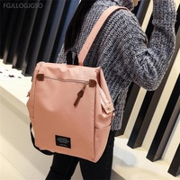 Large Capacity Canvas Shoulder Bag Women Europe Fashion Campus Students Backpack School Bag Men Bobby Backpack