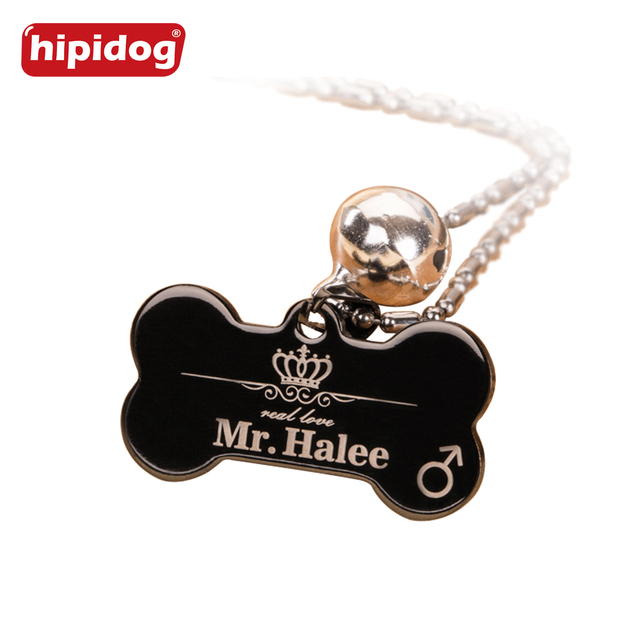 2 pcs/lot Aluminum Pet ID Tag Bone Shape Double Sided Custom Engraved Dog Cat Pet Name Phone Number ID Tag Charm Personalized