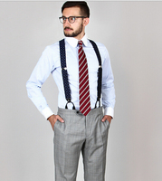 2015 New Arriving 100 Cotton Blue Striped With Contrast White Club Collar And Button Cuff Striped