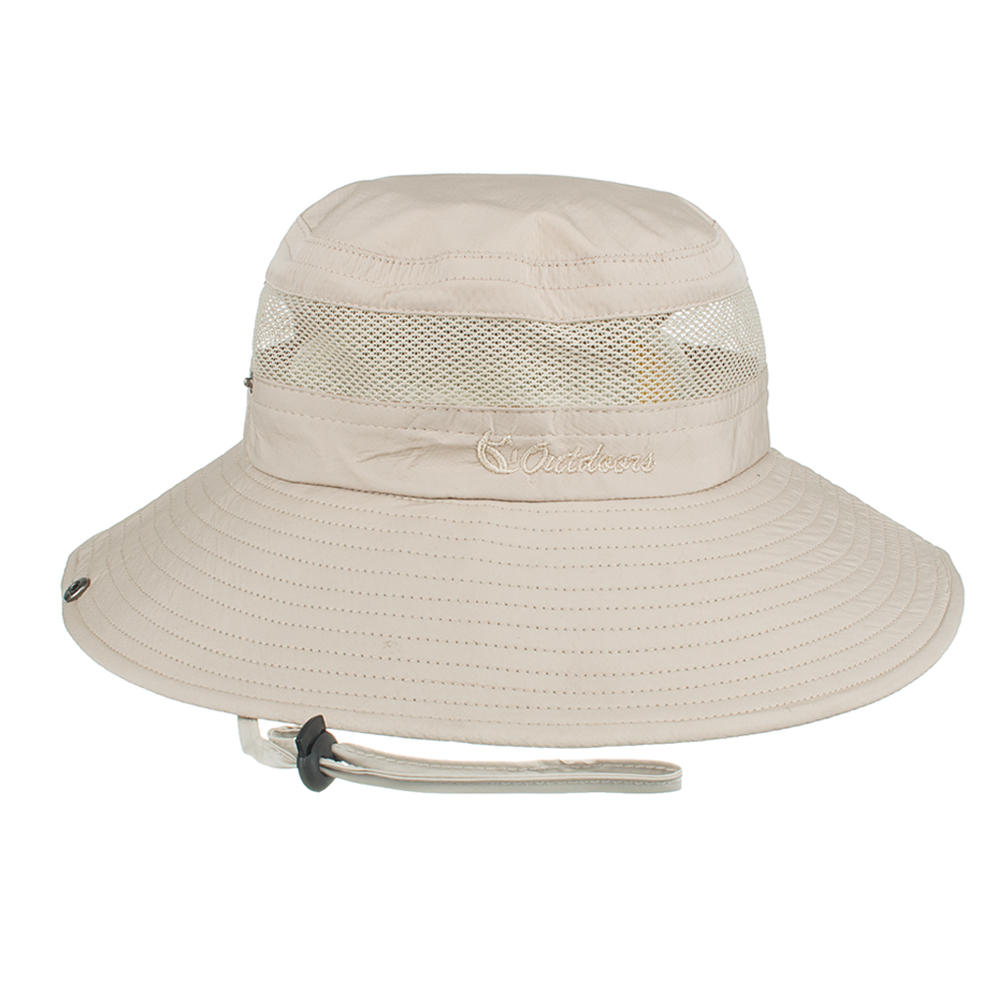 dccbfddabf2 Joymay Summer Bucket Hats Fishing Wide Brim Hat UV Protection Cap Men Hiking