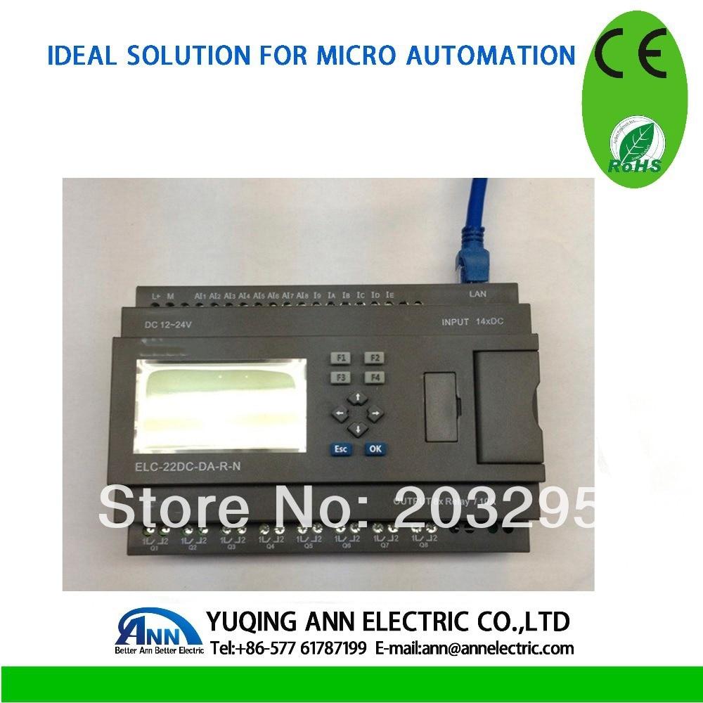PLC  Ethernet PLC,ELC-22AC-R-N-HMI, ,Built-in Ethernet capability plc ethernet plc elc 12dc da r n hmi built in ethernet capability
